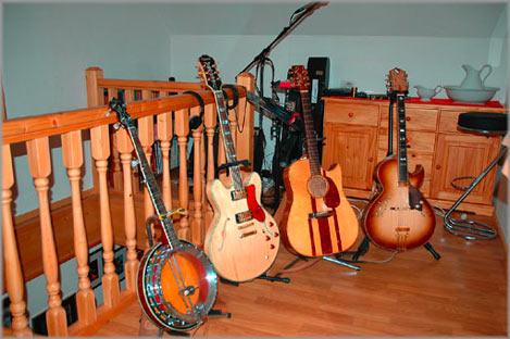 Banjo Gitarre, Jazzgitarre, akoustikGitarre